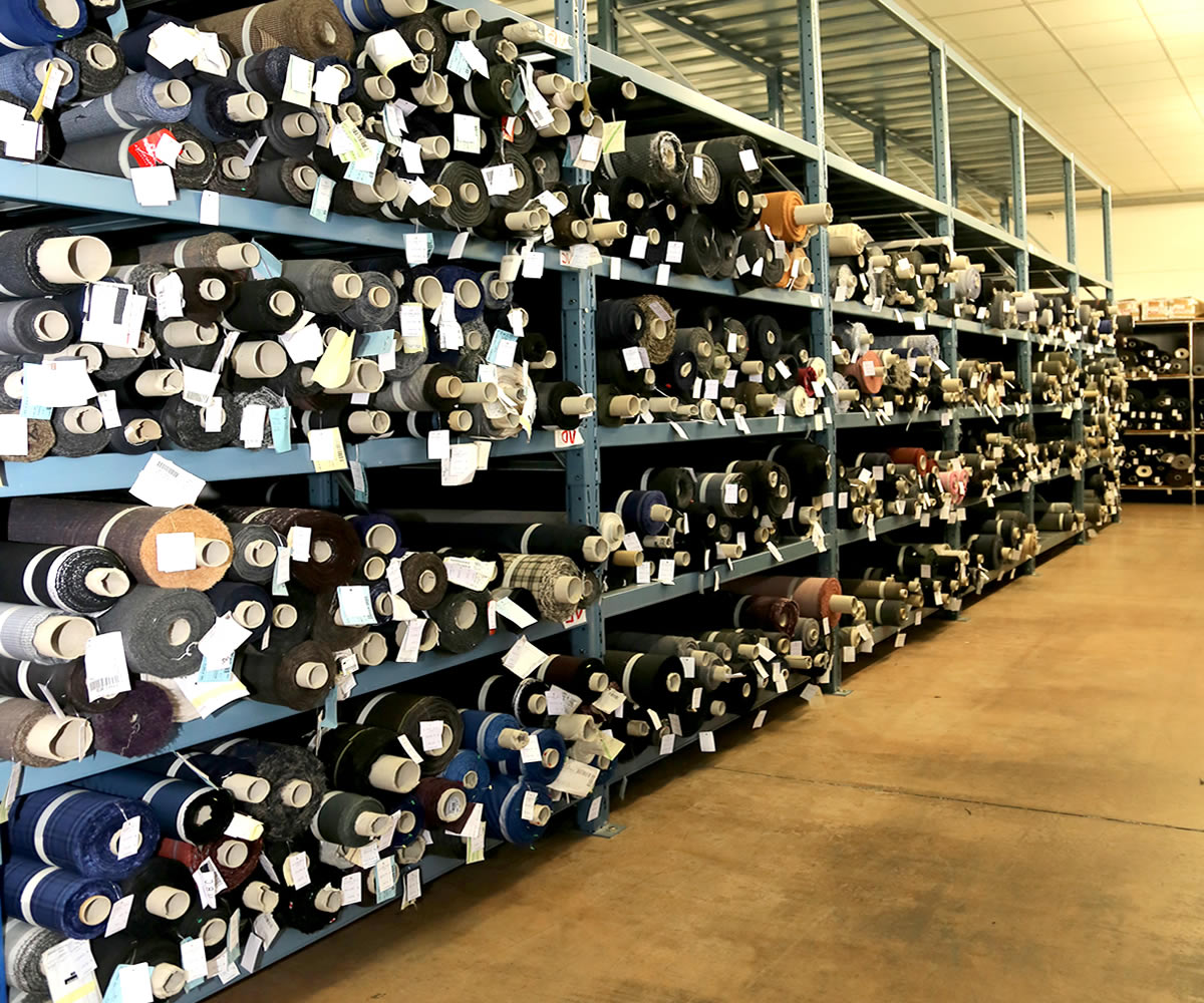 Our Warehouse storage of textile products